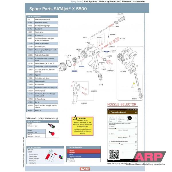 SATAjet X 5500 HVLP Spray Gun