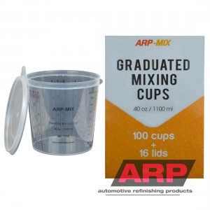 Mixing cups 1100ml/40oz (100pcs/16Lids)