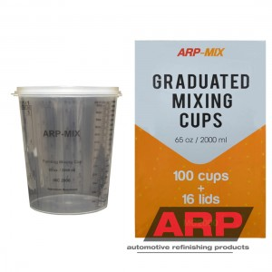 Mixing cups 2000ml/65oz (100pcs/16Lids)