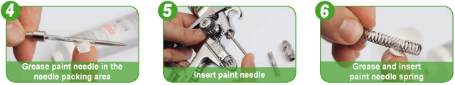 Assembly and maintenance spray gun