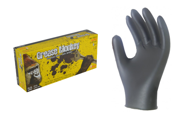 Gloves Nitrile 8mil Grease Monkey