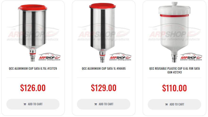lower or upper, aluminum or plastic tank for a spray gun